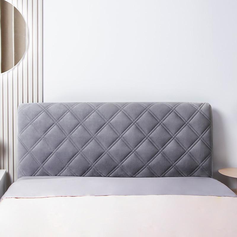 شاملة قصيرة أفخم اللحف غطاء رأس السرير الفاخرة لينة رشاقته المخملية مبطن اللوح الأمامي غطاء بلون مسند الظهر