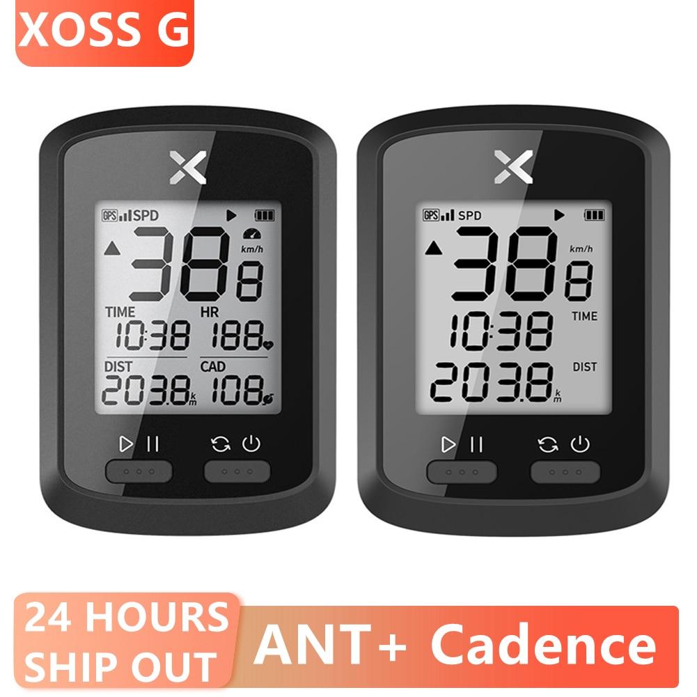 XOSS G + GPS Drahtlose Tacho IPX7 1,8 inch LCD Dispaly Herz Rate MTB Road Fahrrad Bluetooth ANT + Cadence radfahren Computer