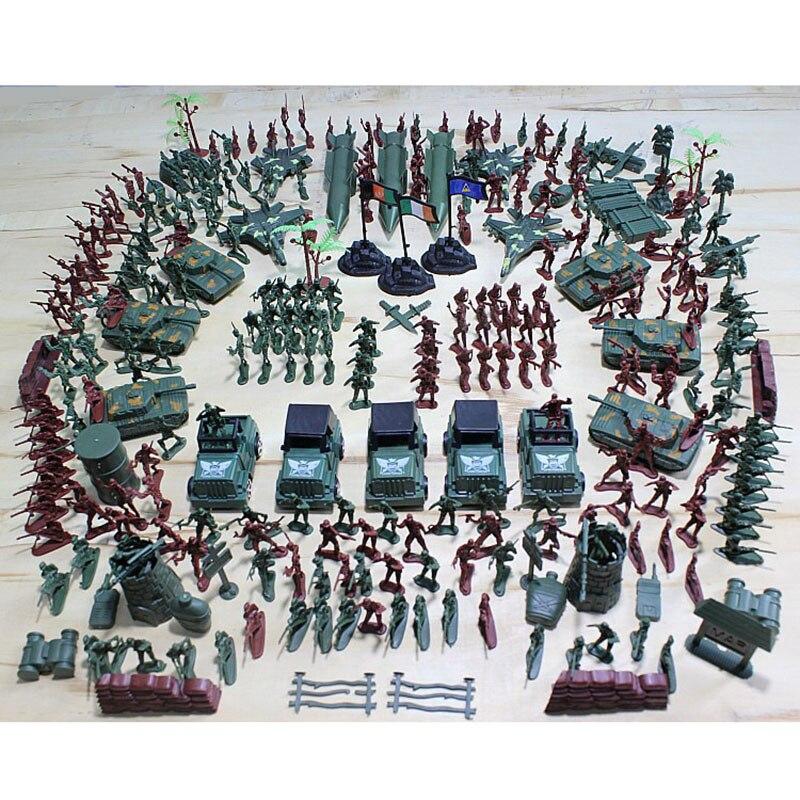 307 peças 4 centímetros Soldado Militar Do Exército Modelo de Plástico Brinquedo Figuras de Ação Decoração Play Set Brinquedos Modelo Para As Crianças de Natal presente