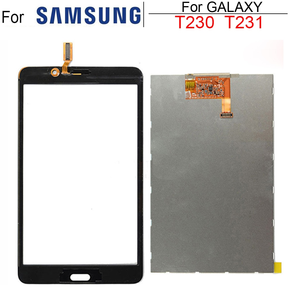 New 7'' For Samsung Galaxy Tab 4 7.0 T231 SM-T231 T230 SM-T230 Touch Screen LCD Display Matrix Panel Tablet Replacement Parts
