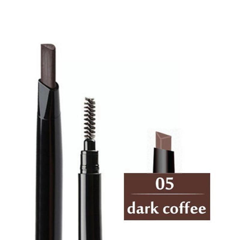 Двойной автоматический карандаш для бровей, водостойкая стойкая кисть для размазывания бровей с ручкой для бровей, косметика без вращения ... недорого
