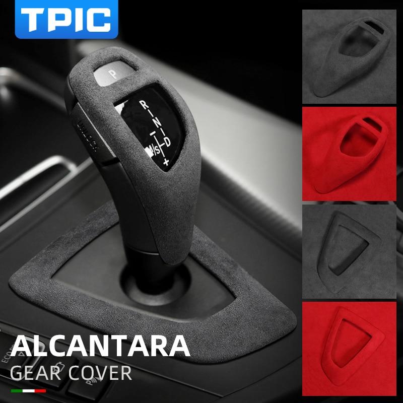 Alcantara Suede Car wrapping ABS Gear Shift Knob Cover Car Stickers and decals For BMW F30 F34 F20 F21 F10 F07 F15 F16 F25 F26