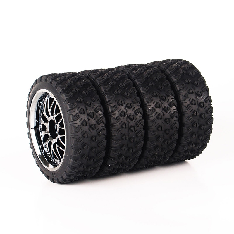 4PCS 10087-21104 1/10 RC Rally Racing Car Rubber Tyre Tire Wheel with 12mm Hex fit HPI HSP Road Car Model enlarge