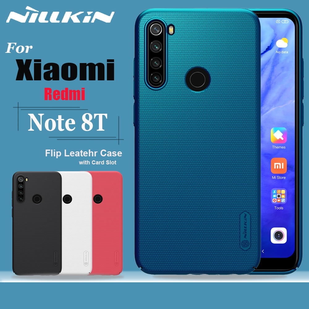 Nillkin Voor Xiaomi Redmi Note 8T Case Funda Frosted Shield Hard Pc Plastic Telefoon Volledige Cover Back Tas Gevallen op Redmi Note 8T Capa