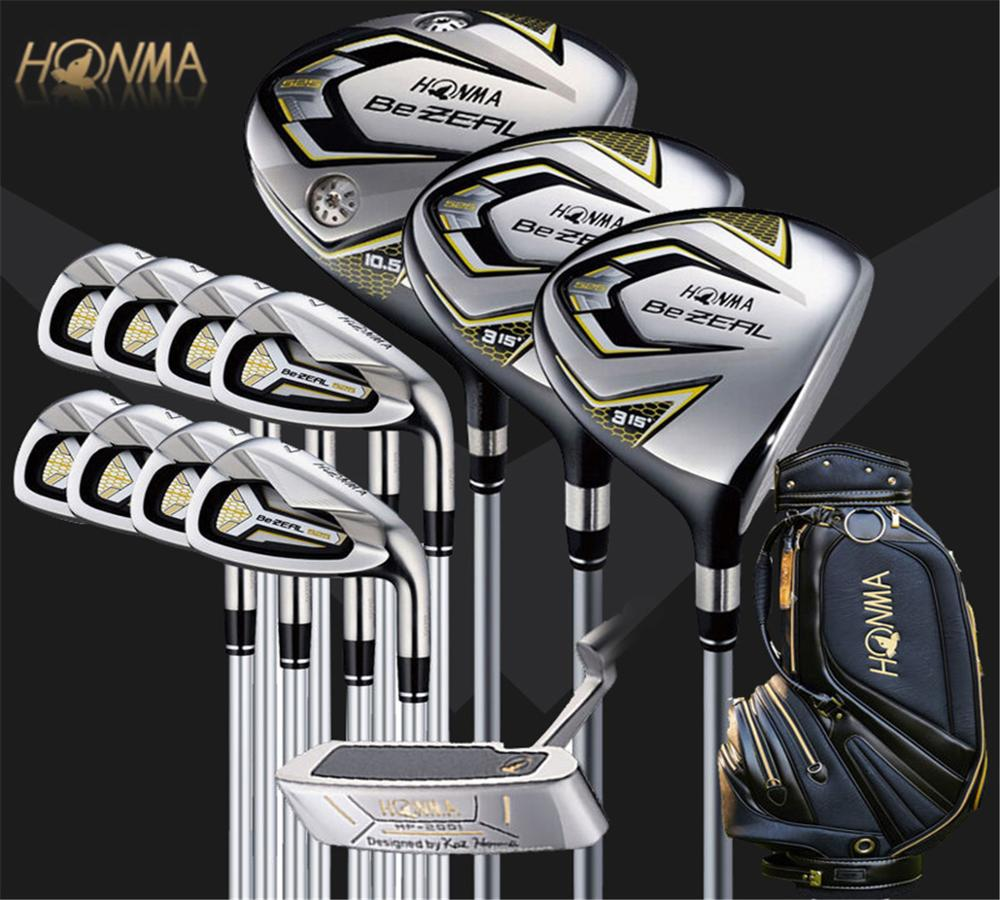 New golf club HONMA BEZEAL 525 full set, golf driver wood putter iron graphite shaft R or S golf club with hood, without bag