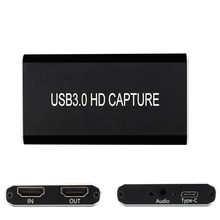 HDMI Zu Typ C USB 3,0 Hd Spiel Video Capture Card,HDMI ZU HDMI Audio 1080P 60Fps Full Hd Video Recorder Gerät Für Ps4 Ps3 Xbox