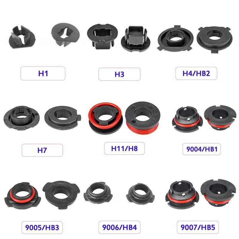 2pcs/set LED Headlight Bulb Base Adapter Socket Retainer 9004 9005 H13 H11 H7 H4 H3 H1 for Car Light