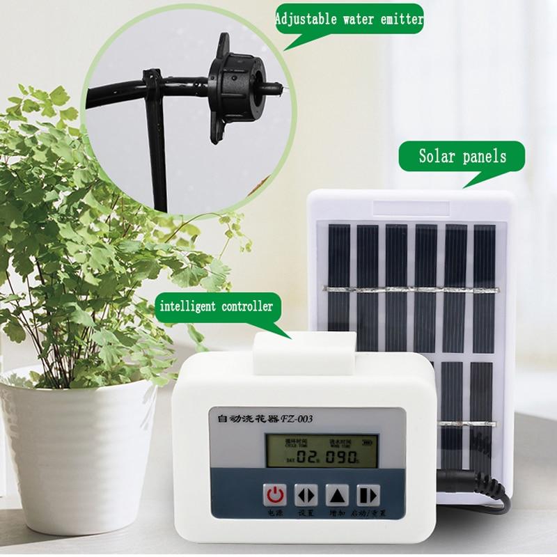 حديقة جهاز الري بالتنقيط وحدة تحكم في مضخة الماء نظام الموقت الطاقة الشمسية ذكي جهاز الري التلقائي للنباتات