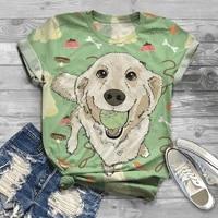 oversized new digital 3d dog printed women t shirt o neck short sleeve graphic tops summer harajuku tshirt camisetas mujer