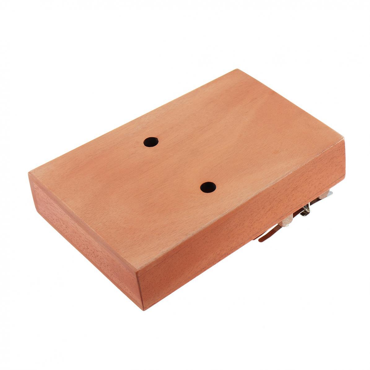 17 Key Kalimba Single Board Mahogany Lucky Grass Sound Hole Thumb Piano Mbira Mini Keyboard Instrument Thumb Piano Hot enlarge