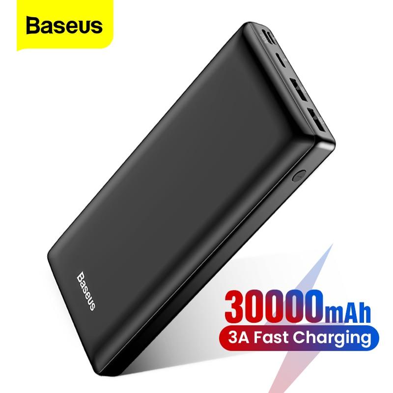 Baseus Power Bank 30000mAh Powerbank USB C Fast Poverbank For Xiaomi iPhone 12 Pro Portable External