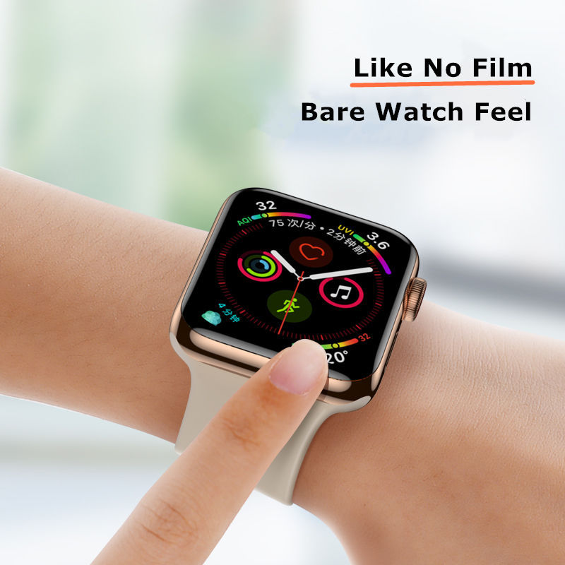 Soft Glass For Apple Watch 3 4 5 6 SE 44mm 40mm 42mm 38mm (Not Tempered) 9D HD safety iWatch Film Apple watch Screen Protector