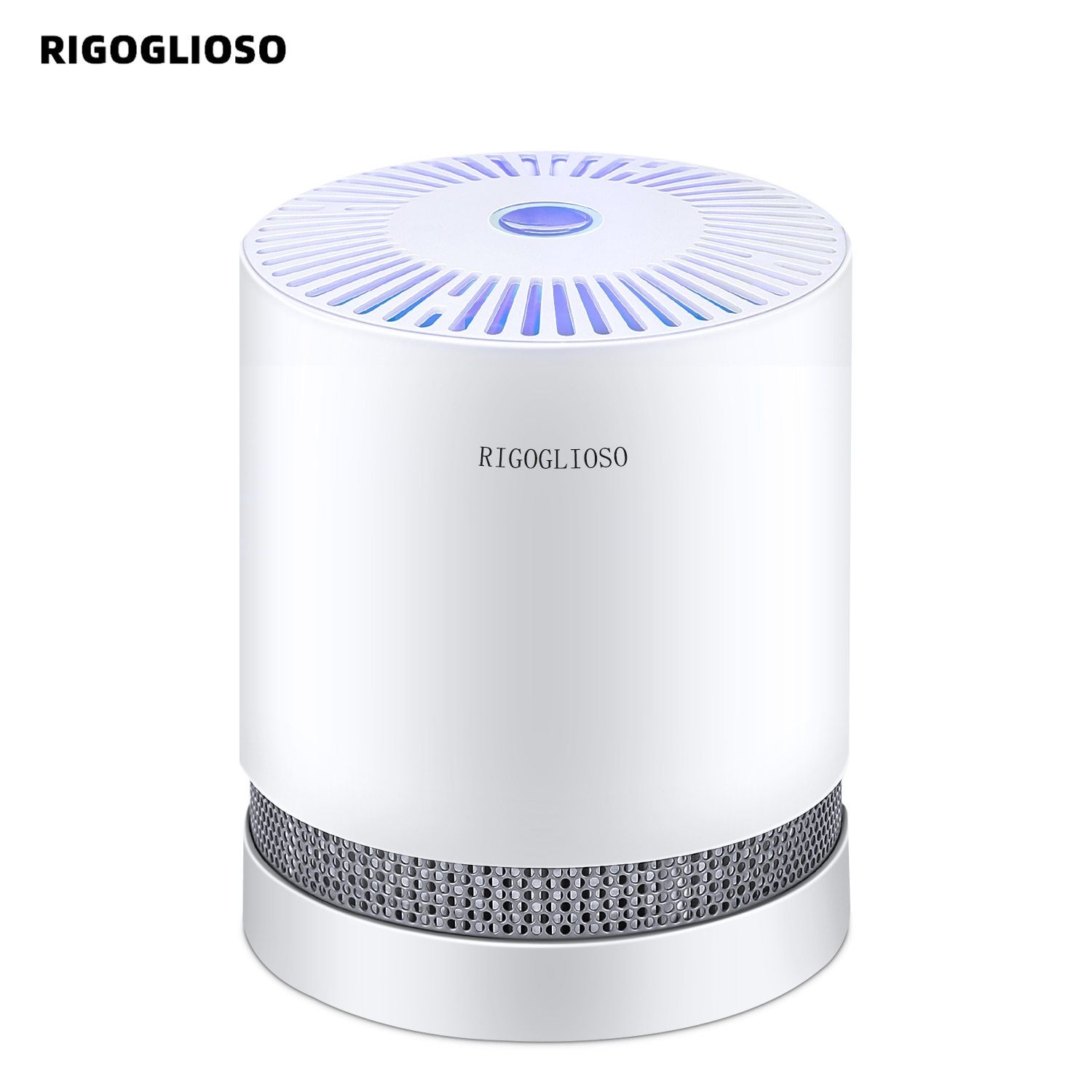 RIGOGLIOSO Air Purifier For Home True HEPA Filters Compact Desktop Purifiers Filtration with Night L