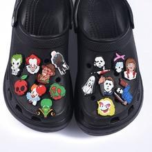 1pcs Horror Movie Soft PVC Shoe Charms Cartoon Clog Sandal Bullet Shoe Accessories Decoration Fit Cr