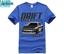 Camiseta de diseñador Funky Nissan Skyline Lenovo S13 Drift King R34 Hakosuka para hombre de cuello redondo de manga corta Camisetas de coche nuevo