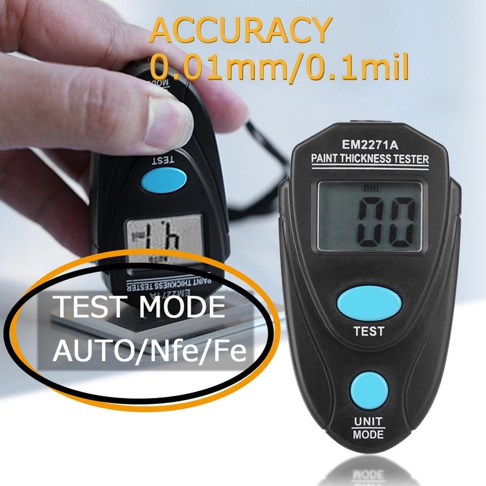 Medidor de Espessura Pintura do Carro Testador de Espessura Medidor de Revestimento Digital Mini Automóvel Ferramenta Acessórios Em2271a