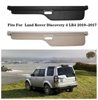 high qualit car rear trunk cargo cover security shield screen shade fits for land rover discovery 4 lr4 2010 2017black beige