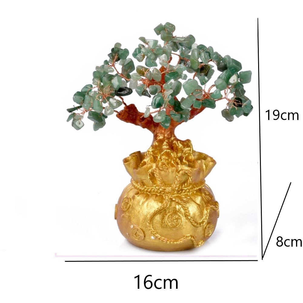 TOYANDONA 19cm Chinese Feng Shui Money Tree Gold Ingot Golden Treasure Basin Golden Fortune Tree Chinese Wealth Yuan Bao Wealth Decorative Figurine for Home Office