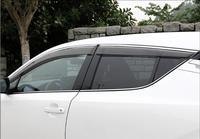 4pcs Chrome Window Visor Deflector Sun Rain Shield For 17-18 Toyota C-HR CHR 2017 2018