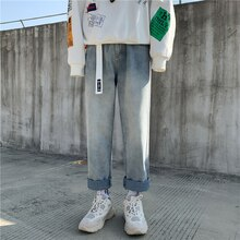 Women's plus Size Cropped Denim Pants for Plump Girls BF Spring/Summer Korean Style Versatile Loose