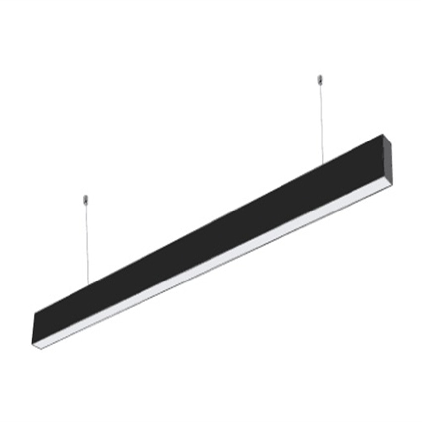 Linkable  bright 1200mm 1500mm  BLACK architectural lighting suspended batten linear led hanging lamp