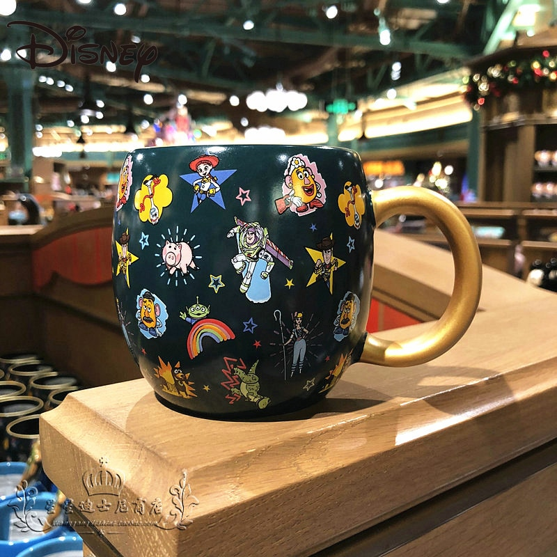 أكواب ديزني لعبة قصة الطنانة ضوء السنة الكرتون كوب سيراميك جميل الإبداعية شخصية المنزل سعة كبيرة فنجان القهوة كوب حليب