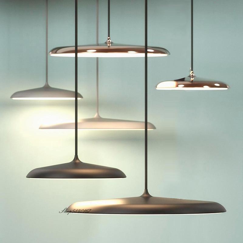 الحديثة بسيطة اللون قلادة أضواء الشمال مصمم معلقة ضوء غرفة المعيشة الديكور جزيرة المطبخ قلادة تركيب المصابيح