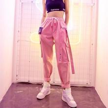 Heydress 2020 الخريف الربيع الصلبة المرأة القطن عالية الخصر البضائع السراويل سيدة الوردي الإناث بناطيل كاجوال السراويل الإناث Harajuku