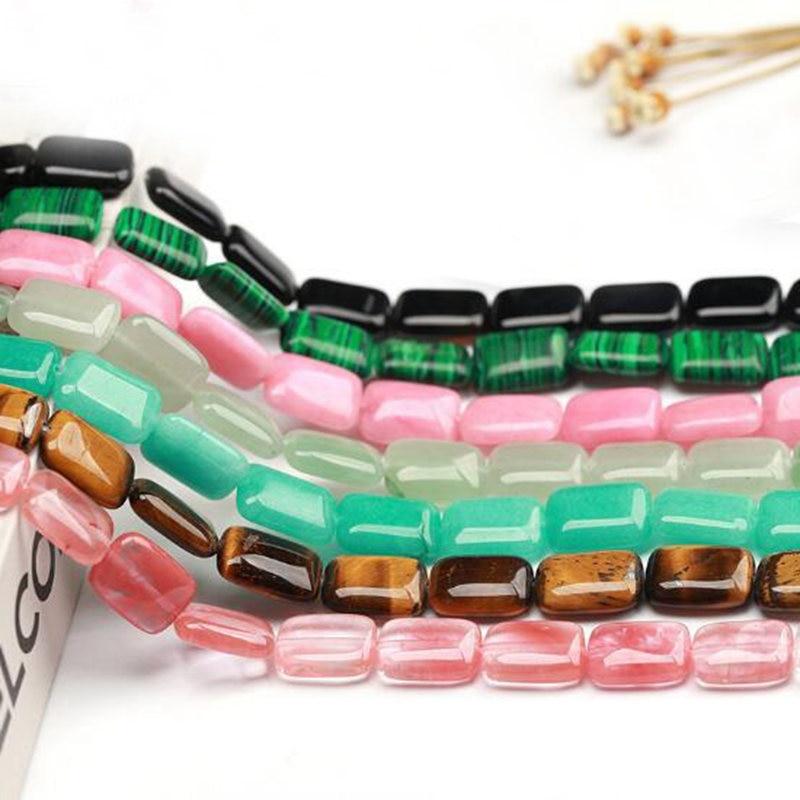 Kamień naturalny luźne koraliki wysokiej jakości 13x18mm kształt prostokąta DIY naszyjnik z klejnotem bransoletka akcesoria do wyrobu biżuterii 22 sztuk wk254