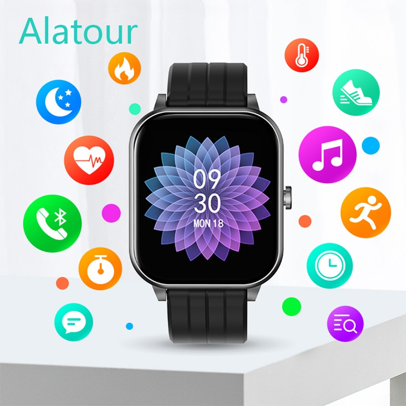 Smartwatch Full Touch Multi-Sport Mode Plus Smart Watch Men Heart Rate Monitor For iOS Android Watch