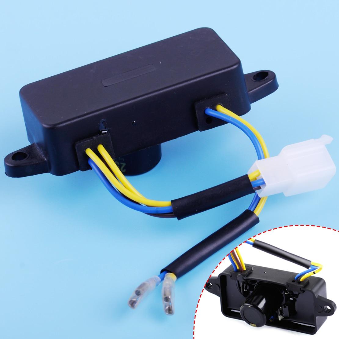 Regulador de voltaje automático rectangular LETAOSK 2KW AVR para piezas del generador TT08-4A Accesorios