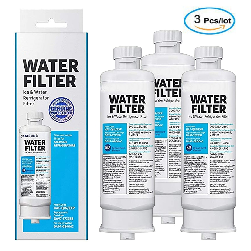 Replace Samsung original DA97-17376B HAF-QIN / EXP refrigerator water filter 3 pieces