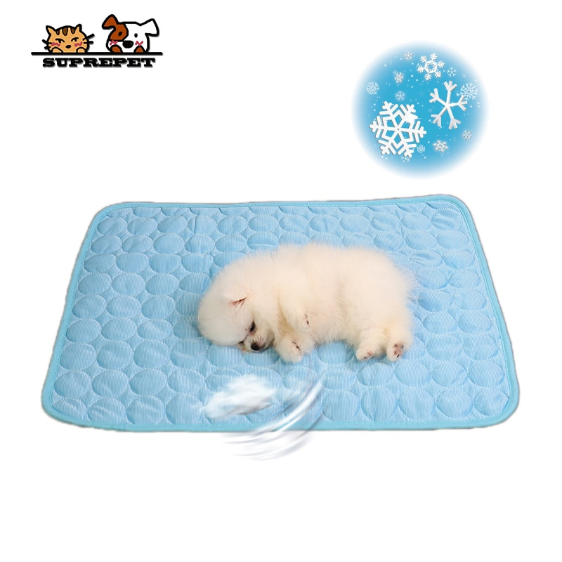 SUPREPET Sommer Hund Bett Pet Eis Sofa Pad Katze Schlafen Zwinger Silk Kühlung Matte Waschbar Weichen Matte Für Große Kleine decke Auto Hause