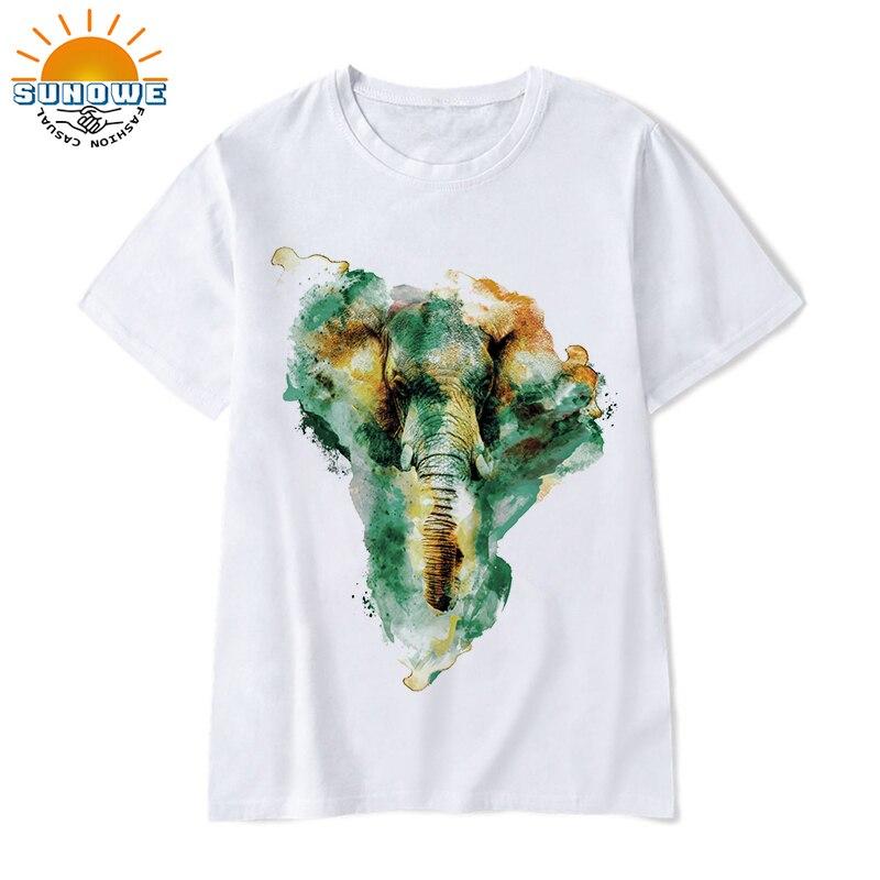 Цветные футболки с животным принтом, летние футболки с графическим рисунком, забавные мужские Модальные футболки, свободные топы с круглым ...