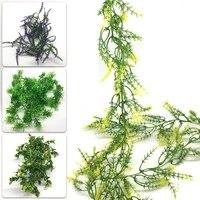 Guirlande de faux feuilles vertes de lierre artificiel  decoration de maison  guirlande de rotin en plastique  decoration murale  plantes de Simulation