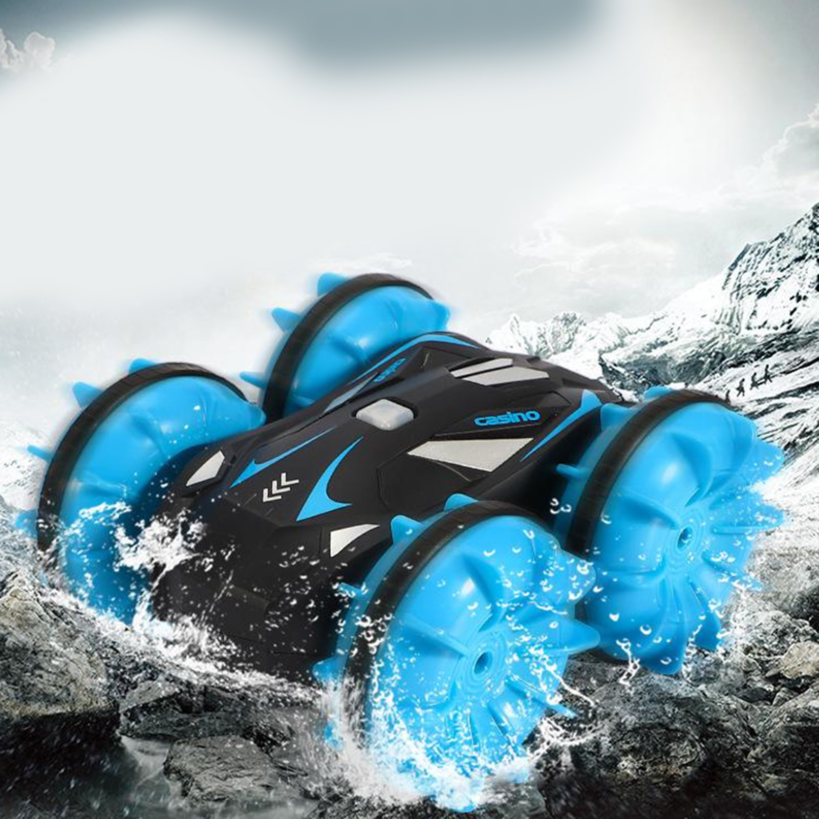 Waterproof 1/20 RC Stunt Car Racing Monster Truck Electric Radio Control On Water And Land Rechargeable 360° Rotating