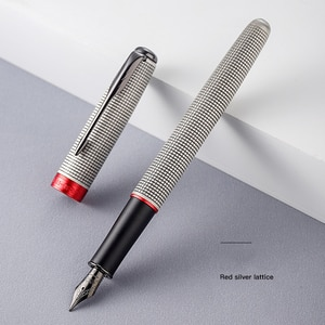 2021 New Jinhao Fountain Pen Classic Stripes Ink Pen 0.5mm F Nib Black Pen Boligrafo Vintage School Office Supplies Stationery