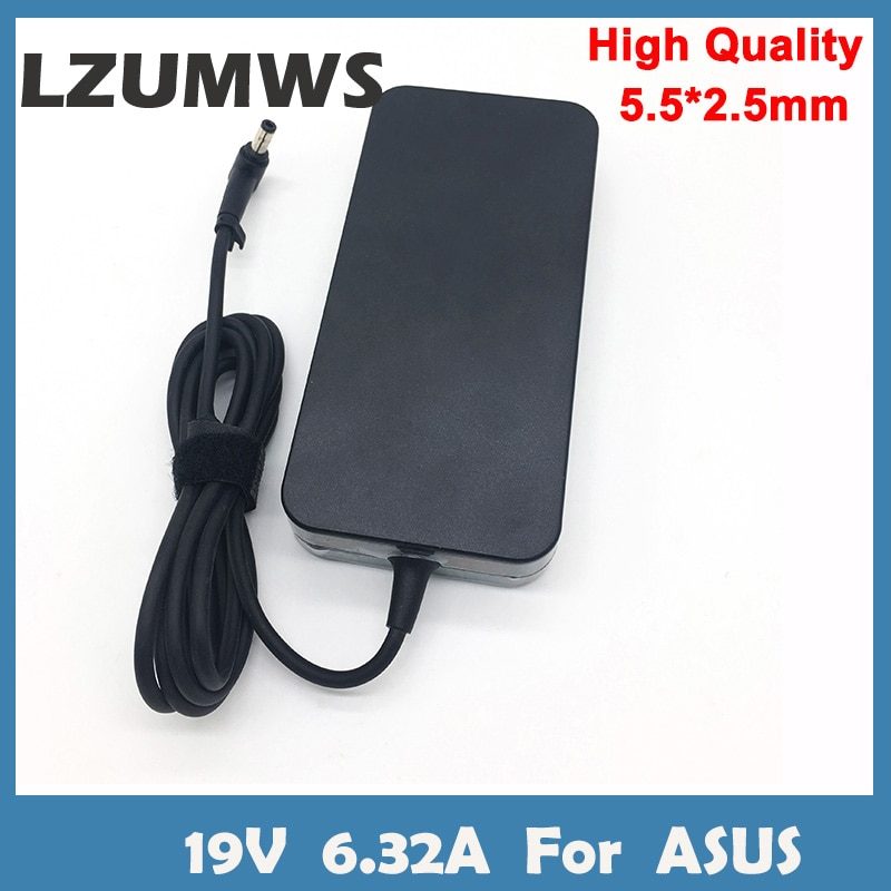LZUMWS 19V 6.32A 5.5*2.5mm 120W Laptop Adapter Notbook Power Supply For toshiba ACER Asus N550 K53 N