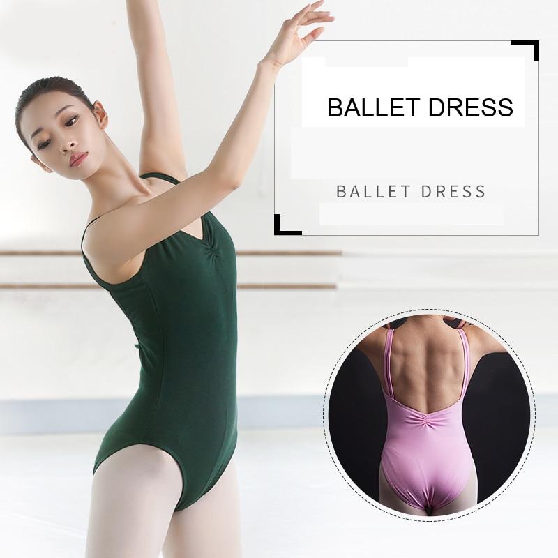 Leotardos de ballet para las mujeres tirantes finos gimnasia leotardo profesional Ropa de baile para niñas vestido de tutú de Ballet adulto