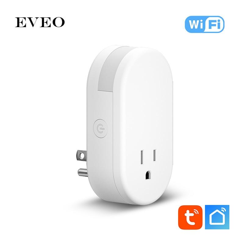 EVEO الولايات المتحدة تويا الحياة الذكية التحكم الصوتي واي فاي التحكم مقبس الحائط