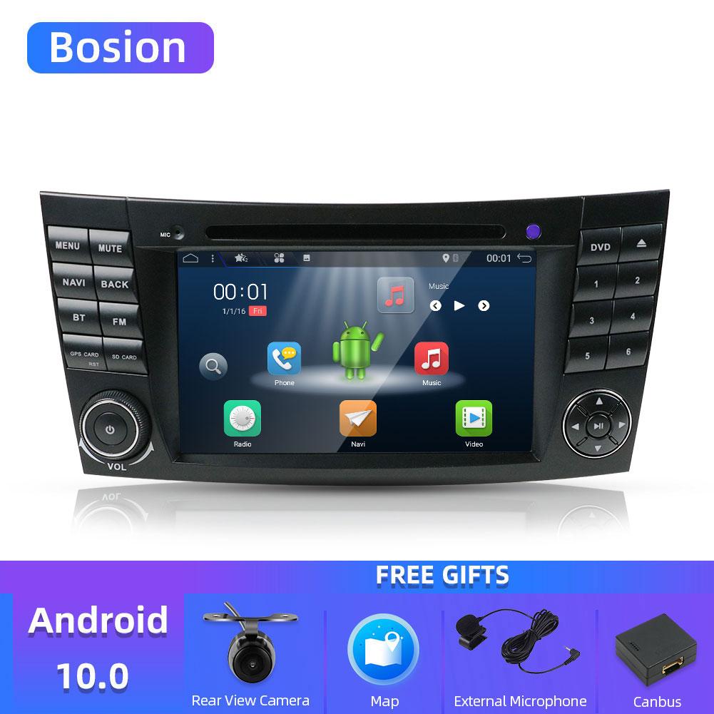 Bosion, Android 10, reproductor DVD coche 2 din, para Mercedes Benz, Clase E, W211, E200, E220, E300, E350, E24, Bluetooth, Radio Estéreo, audio multimedia