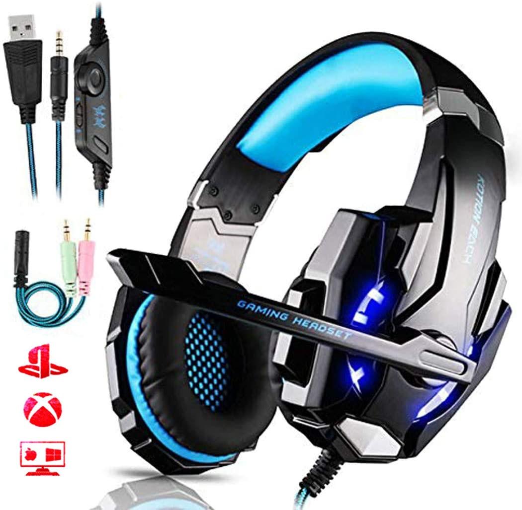 G9000 سماعة سلكية إلغاء الضوضاء على سماعات مع هيئة التصنيع العسكري سماعة سماعة الألعاب لعبة فيديو PS4 PC Xbox One كمبيوتر محمول