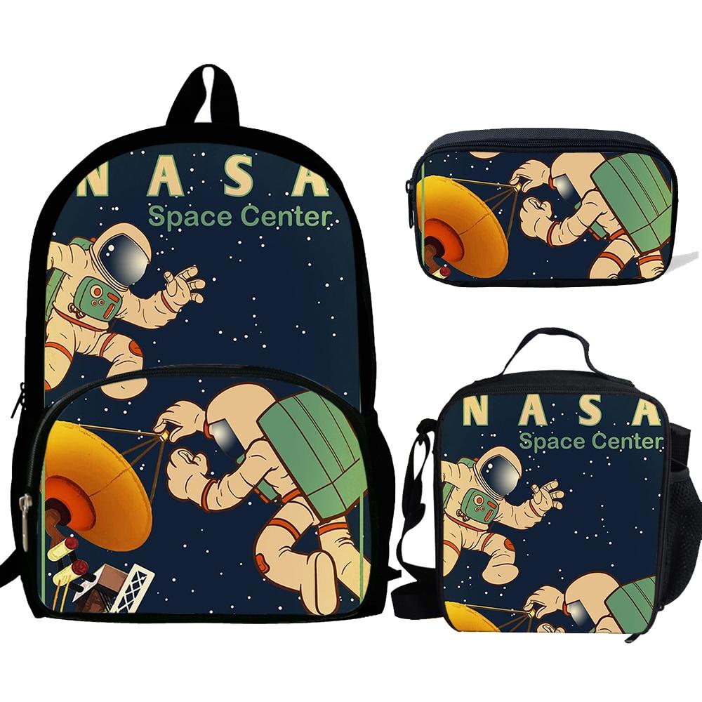 Школьные ранцы с принтом NASAING, Повседневные детские рюкзаки для мальчиков и девочек, школьные ранцы для учеников, 3 шт./компл.