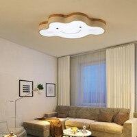 Cartoon Ceiling Lights Cloud Shape LED Ceiling Light For Bedroom Kids Luminaire Cute Wooden Kitchen Lighting Fixture