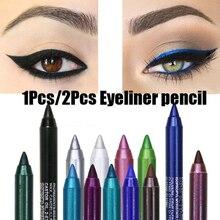 DNM kolorów Eyeliner pióro perłowy cień do oczu długopis wodoodporny pot jest nie kwitnące, co zrobić, jeśli Comestics długotrwała Eye ołówek TSLM1