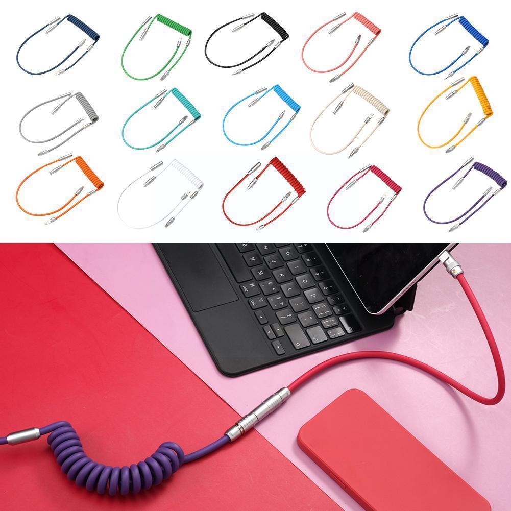كابل بيانات لوحة المفاتيح الميكانيكية المخصصة المصنوعة يدويا من geekكابل لموضوع Gmk Sp خط Keycap Buger.work الحرب الافتراضية Colorway K2l4