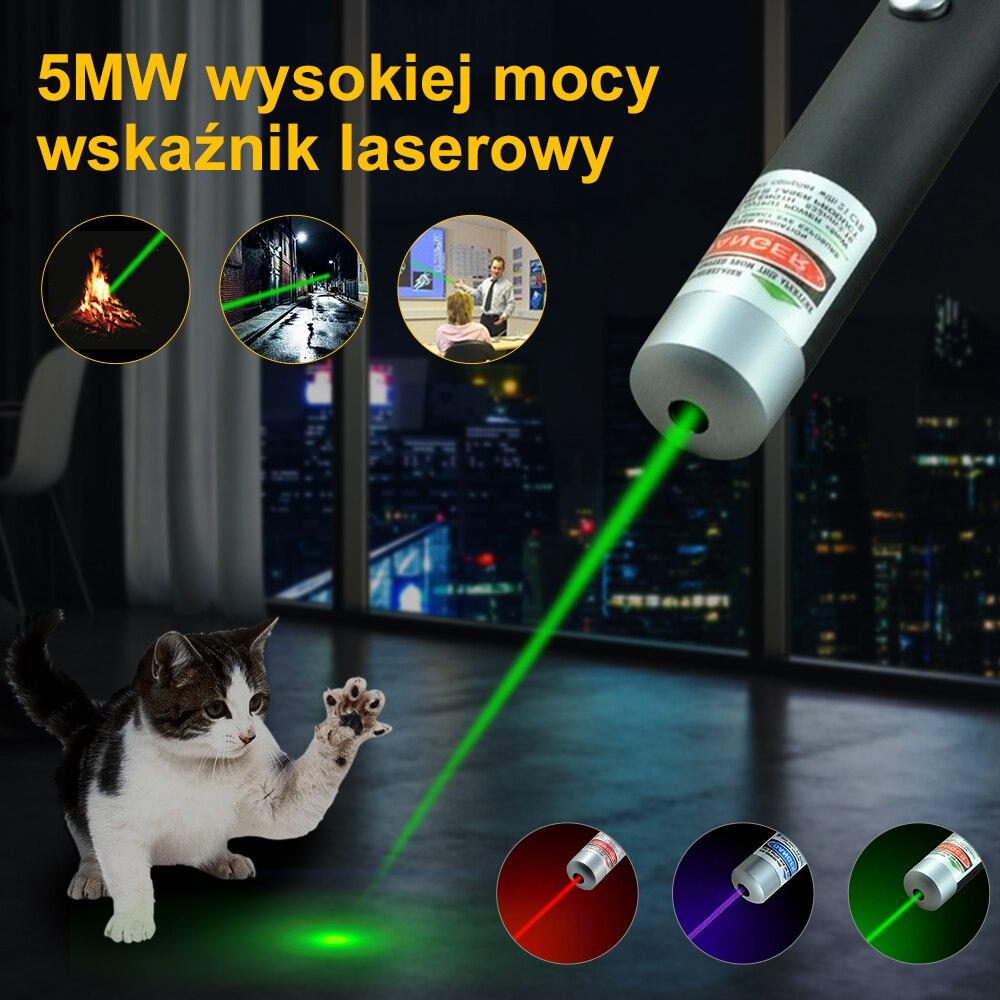 Лазерная указка, 1 шт., 5 мВт, 650 нм, 532 нм, 405 нм, красный, синий, зеленый цвет