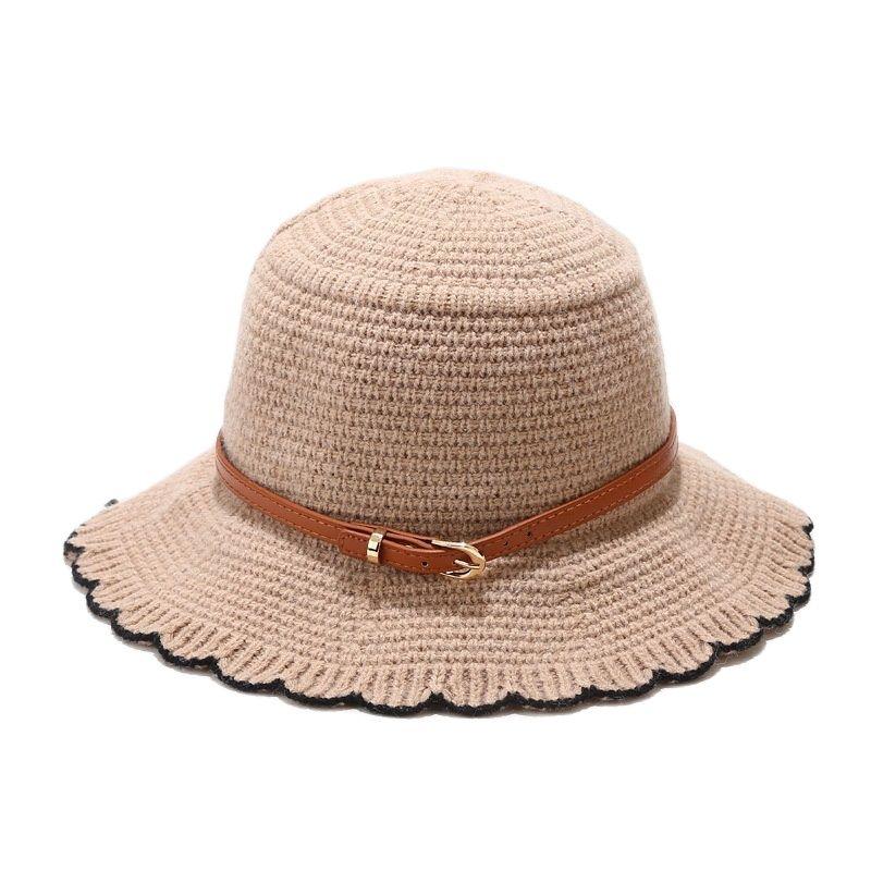 Панама с декоративным ремнем, женская шапка с оборками, осень 2021, женские шапки для лета, мужские шапки, бесплатная доставка, кепки