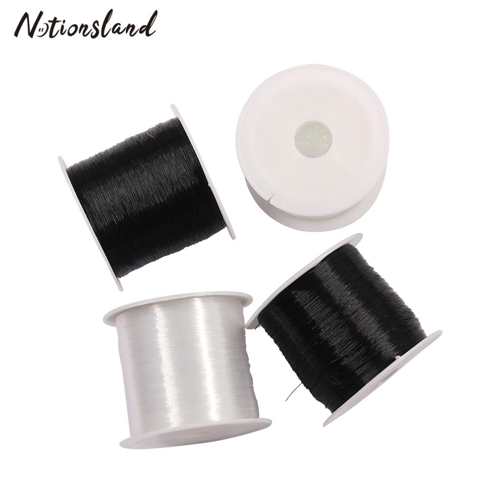 80 м/рулон 0,2 мм нить для бисероплетения Хрустальная нить шнур из бисера нейлоновая нить для изготовления браслетов ювелирных изделий DIY рукоделие швейная нить
