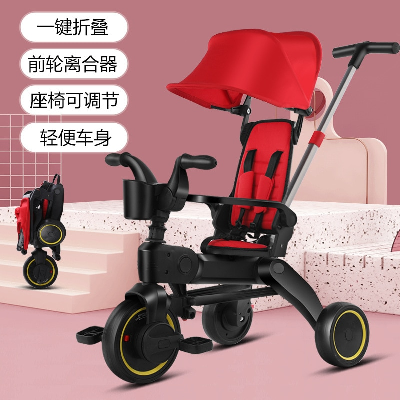 Children Tricycle Scooter Child Two Wheel Bike Foldable Baby Balance Bike Kids Scooter Baby Stroller for 1-6 Years Old infant shining two wheels balance bike 4 6 years old children walker 12 inch riding bicycle height adjustable kids scooter